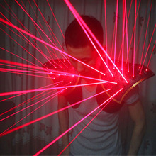 送料無料赤色レーザースーツ、 led ベスト、発光チョッキレーザー手袋のためのレーザーショー