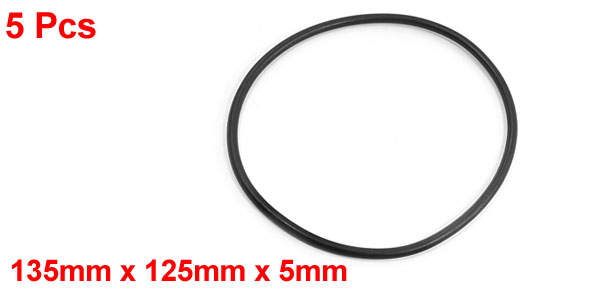 5pcs Replacement Black 105mm x 5mm Rubber O Ring Oil Seal Gaskets