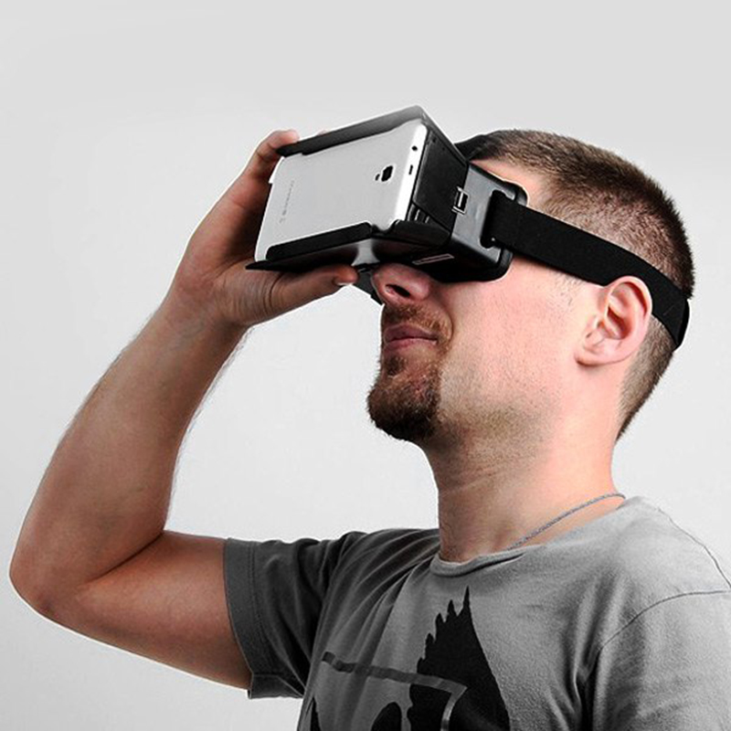 3D Video Glasses Universal Google Virtual Reality Practical Color Cross with Elastic Band for 4 – 6 inch Smartphones Video Glass