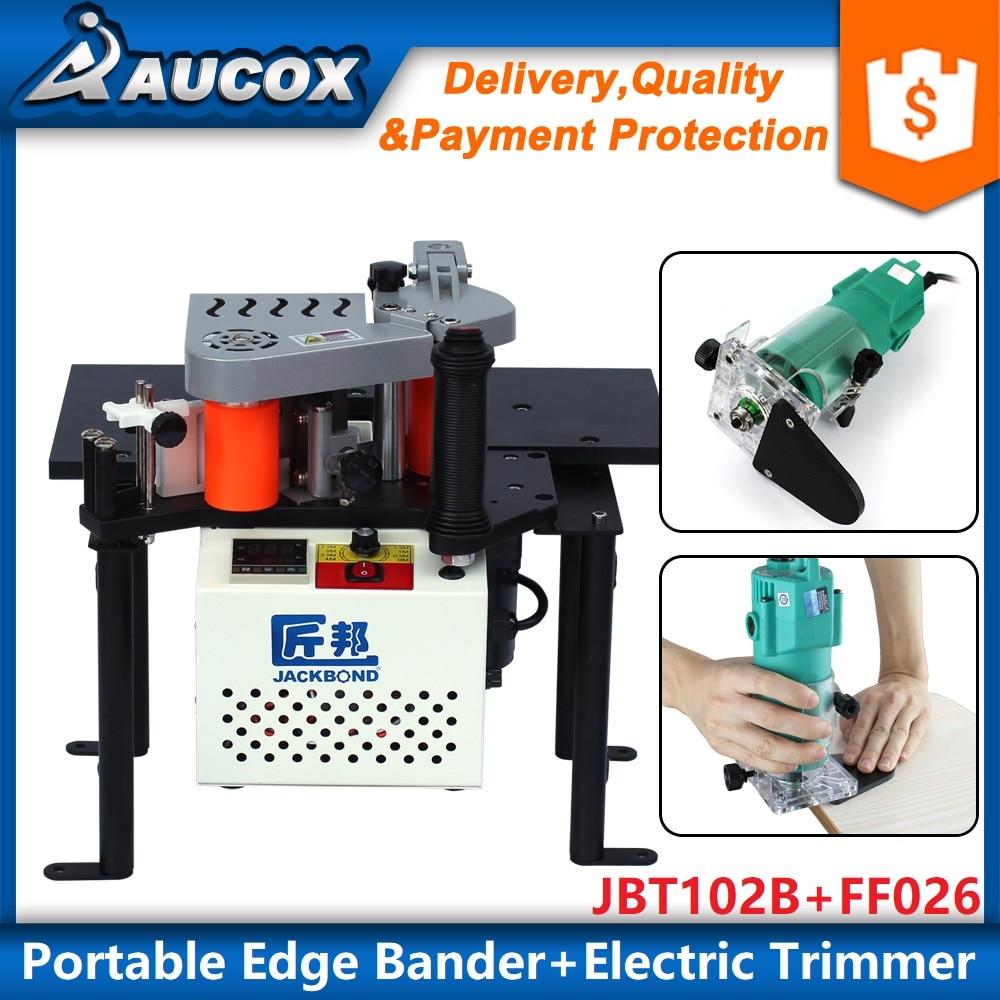 JBT102B portable wood pvc edge banding machine FF026 350W electric wood edge banding trimmer