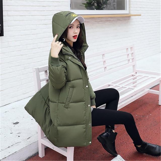 Best Offers Long Winter Jackets Women Coats Casual Warm Long Sleeve Thick Autumn Parkas Outwear Women Coatsladies Basic Coat Feminina