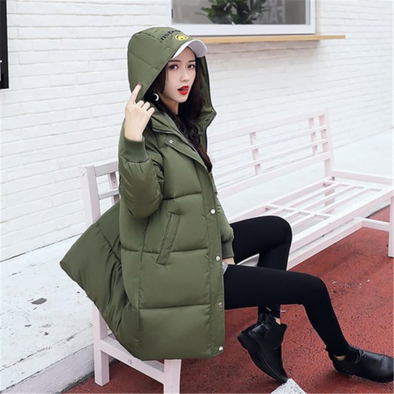 Long Winter Jackets Women Coats Casual Warm Long Sleeve Thick Autumn   Parkas   Outwear Women Coatsladies Basic Coat Feminina
