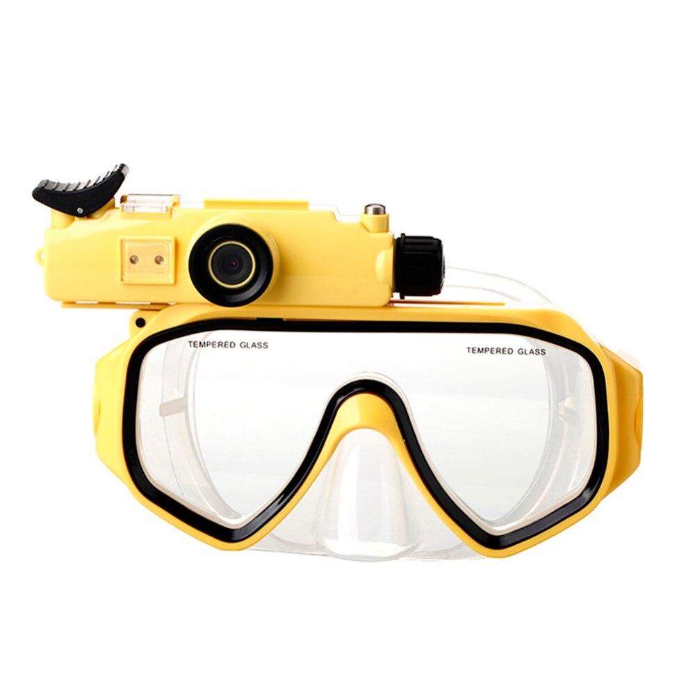 Caméra de plongée masques de plongée vue panoramique Anti-buée Anti-fuite natation tuba plongée sous-marine masque de plongée Compatible Cam
