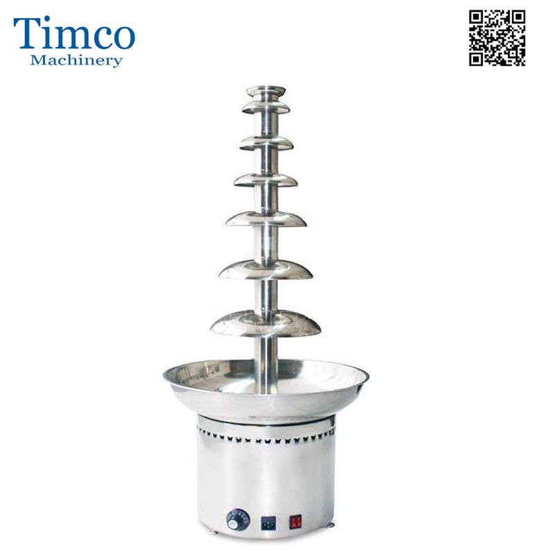 Chocolate Fountain Maker 7 Tiers Layers Stainless Steel Commercial Fondue Chocolate Waterful Machine