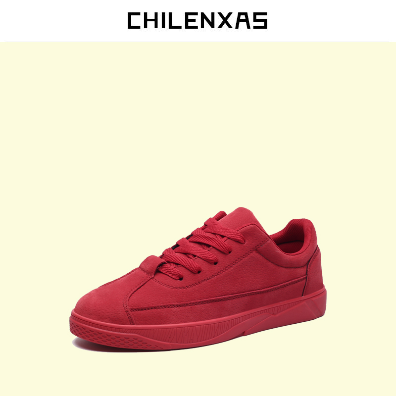 CHILENXAS 2017 Spring Autumn Comfortable Casual Shoes Canvas Men Leather Breathable New Fashion Height Increasing Lace-up Solid spring autumn new men driving shoes fashion breathable leather casual shoes korean version lace up rubber men shoes z180