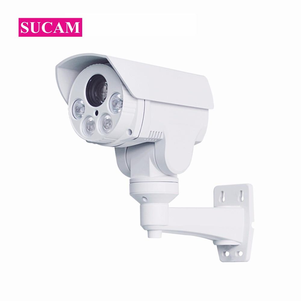 SUCAM Infrared Mini PTZ Bullet IP Camera Outdoor Waterproof 10X Optical Zoom IR Distance 80m 1080P POE Pan Tilt Zoom IP Camera suneyes sp p1803sz poe ptz ip camera 1080p full hd outdoor pan tilt zoom 6 22mm optical zoom with micro sd slot ir night