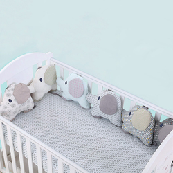 6 Pieces Baby Bed Bumper For Newborns Elephant Crib Bumper Infant Cot Crotch Soft Thick Baby Crib Protector Size 27*34cm
