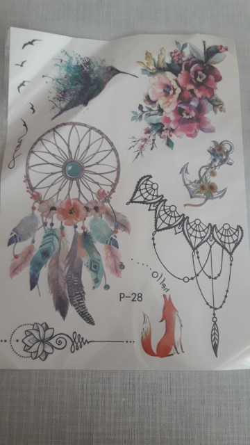 Temporary Floral Tattoos photo review