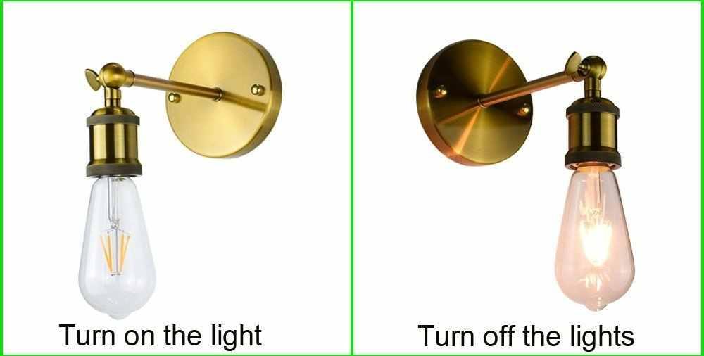 Медь ретро промышленного Винтаж настенные лампы в американском стиле Стиль настенный светильник декоративный светильник для дома E27 wandlamp спальня настенное бра