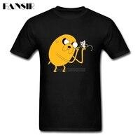 Adventure Time Anime Men Tshirt Premium T-shirts Male Short Sleeve Cotton Custom XS-3XL Brand Clothing For Family