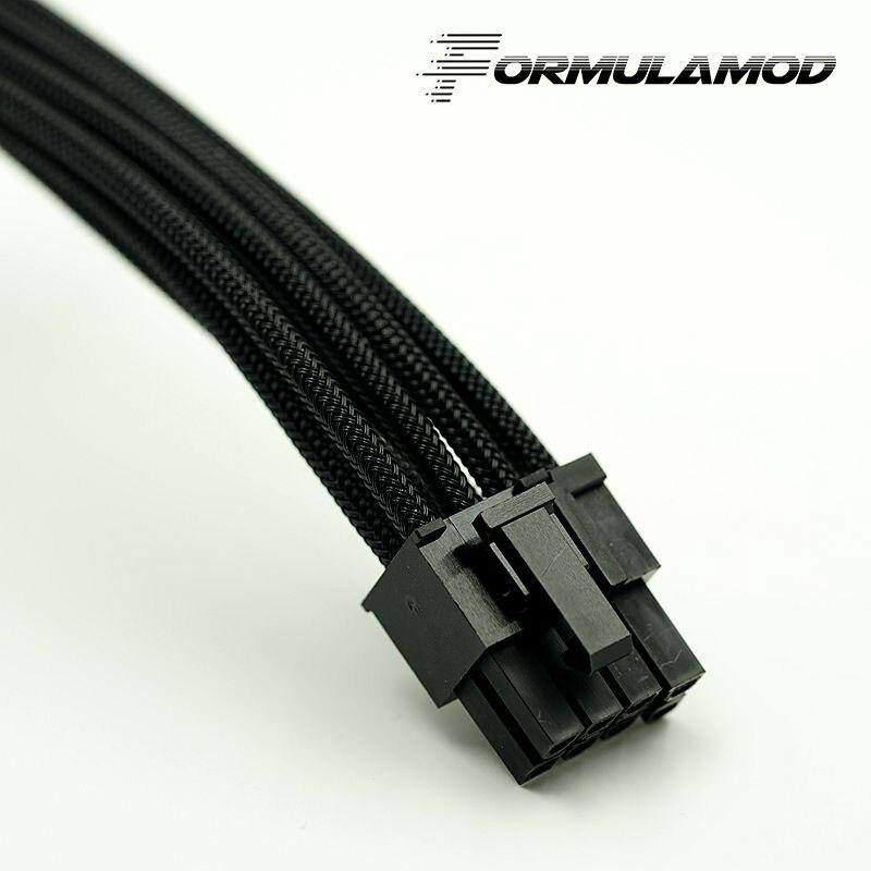 FormulaMod Fm-PCI8P-A, PCI-E 8Pin GPU удлинитель питания, материнская плата 18AWG 8Pin многоцветные соответствующие кабели расширения - Цвет лезвия: Black