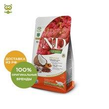 N&D Cat Quinoa Skin&Coat корм для кошек для кожи и шерсти, Сельдь и киноа, 1,5 кг.