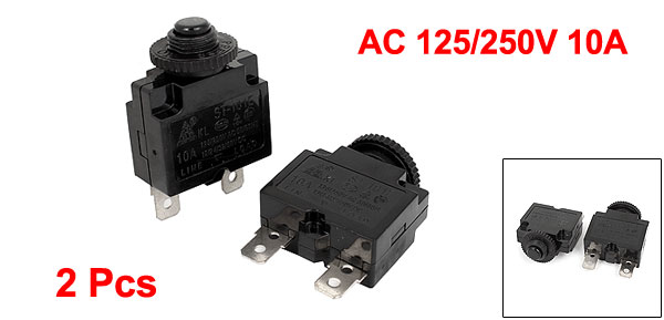 Uxcell 2 Pcs Horizontal Downward Terminal Push Button Canopy Switch Ac 250V 3A .  10mm  11.4mm  11.5mm  11.6mm  11.7mm
