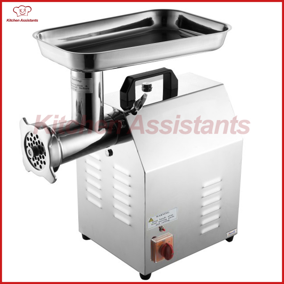 TC12 Electric Commercial kitchen stainless steel meat mincer grinder machine with parts blades стоимость