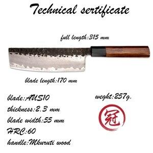 Image 4 - Grandsharp Handgemachte Nakiri Messer 3 Schichten Japanischen AUS10 Edelstahl ECO Freundliche Chef Kochen Küche Werkzeuge Gemüse Slic