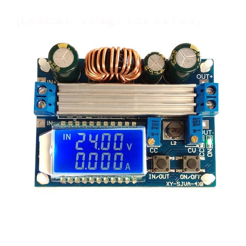 DC Автоматический повышающий/понижающий преобразователь CC CV модуль питания 0,5-30 в 4A Регулируемый источник питания Вольтметр Амперметр