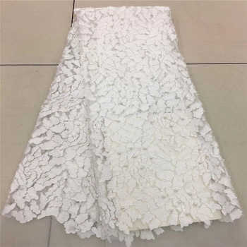 2018 French Lace Fabric White Wedding High Quality African Tulle Lace Fabric 5Yard 3D Flowers Embroidered Tulle Lace fabric1757B - DISCOUNT ITEM  35% OFF All Category