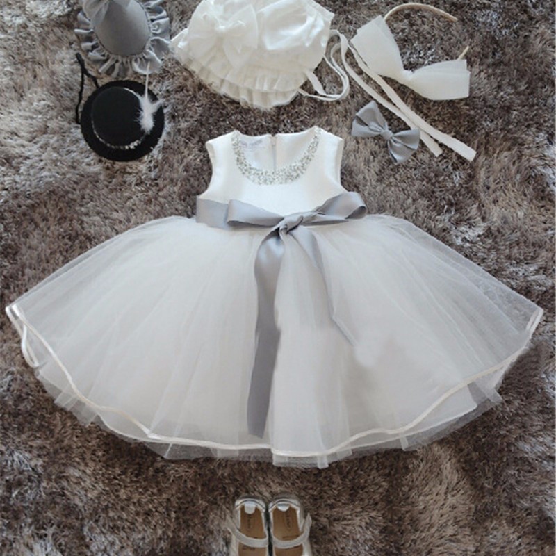 Baby Girl Pageant Wedding Dress Kids Party Vestido Clothes Elegant Tutu Baby Girl 1 2 Year Birthday Dresses Little Girl Frocks