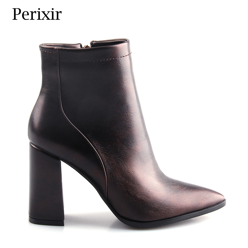 Perixir Pointed toe fashion boots in spring autumn ankle boots for women sexy lady high heels woman Pumps Female Sexy shoes spring autumn woman shoes cow suede shoes high heels sexy party pumps fashion women s pointed toe thin heel ankle boots 34 41