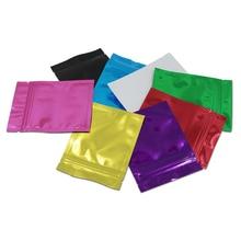 100Pcs Multi-colors Aluminum Foil Bags Reusable Zip Lock Storage Bags Retail Self-sealable Bags for home Decoration Accessories