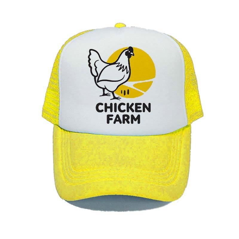 Custom Snapback Hats for Men /& Women Farm Chicken Embroidery Cotton Snapback