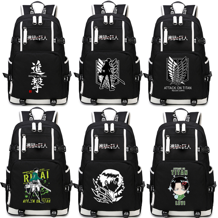 Japan Anime Shingeki no Kyojin Scouting Legion Schoolbag Attack on Titan Backpack Shoulders Bag for Students book bag package japan anime attack on titan brinquedos shingeki no kyojin legion levi juguetes pvc action figure model collection toys doll