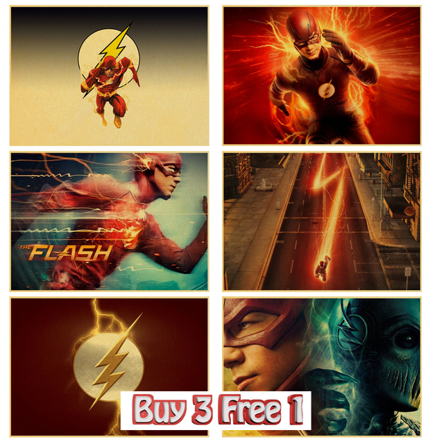Tv serie The Flash poster superhero poster vintage anime Poster ...
