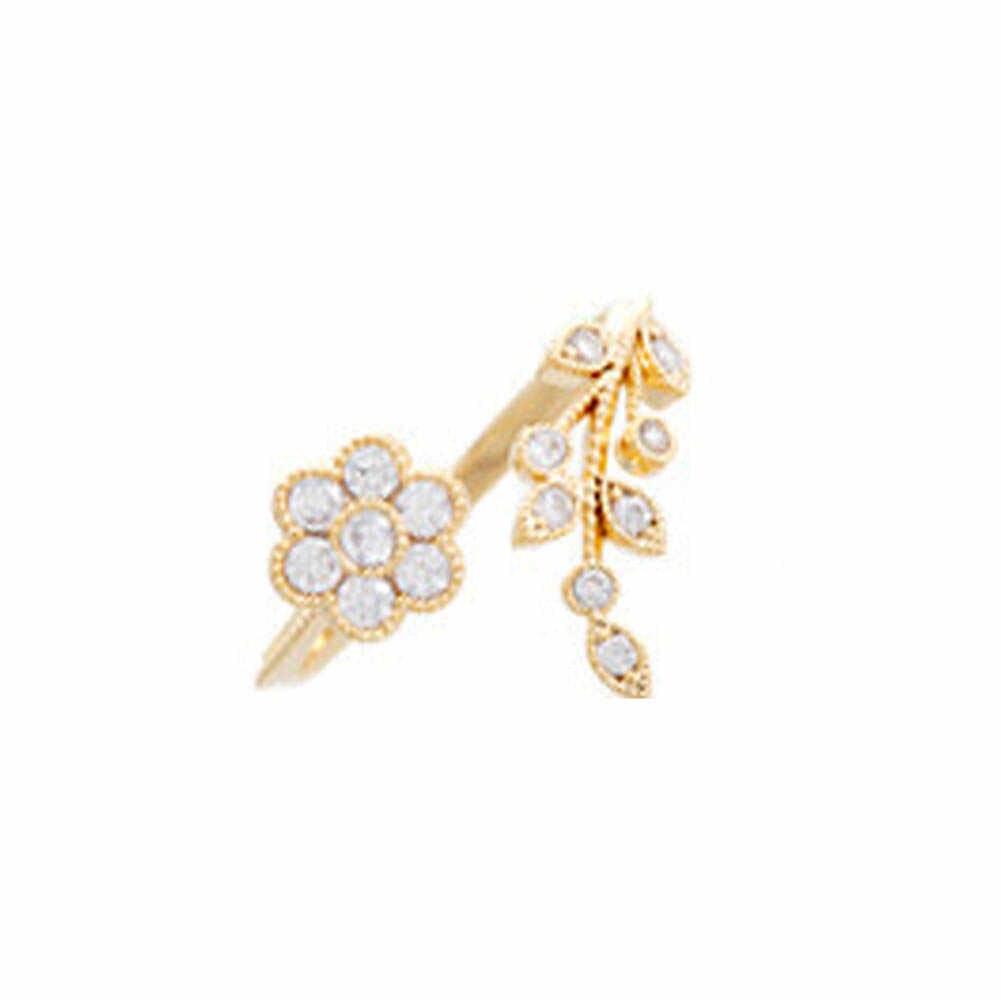 2017 новая Европейская и американская мода темперамент из цинкового сплава волос скрученные листья желаемый цветок открытие кольцо