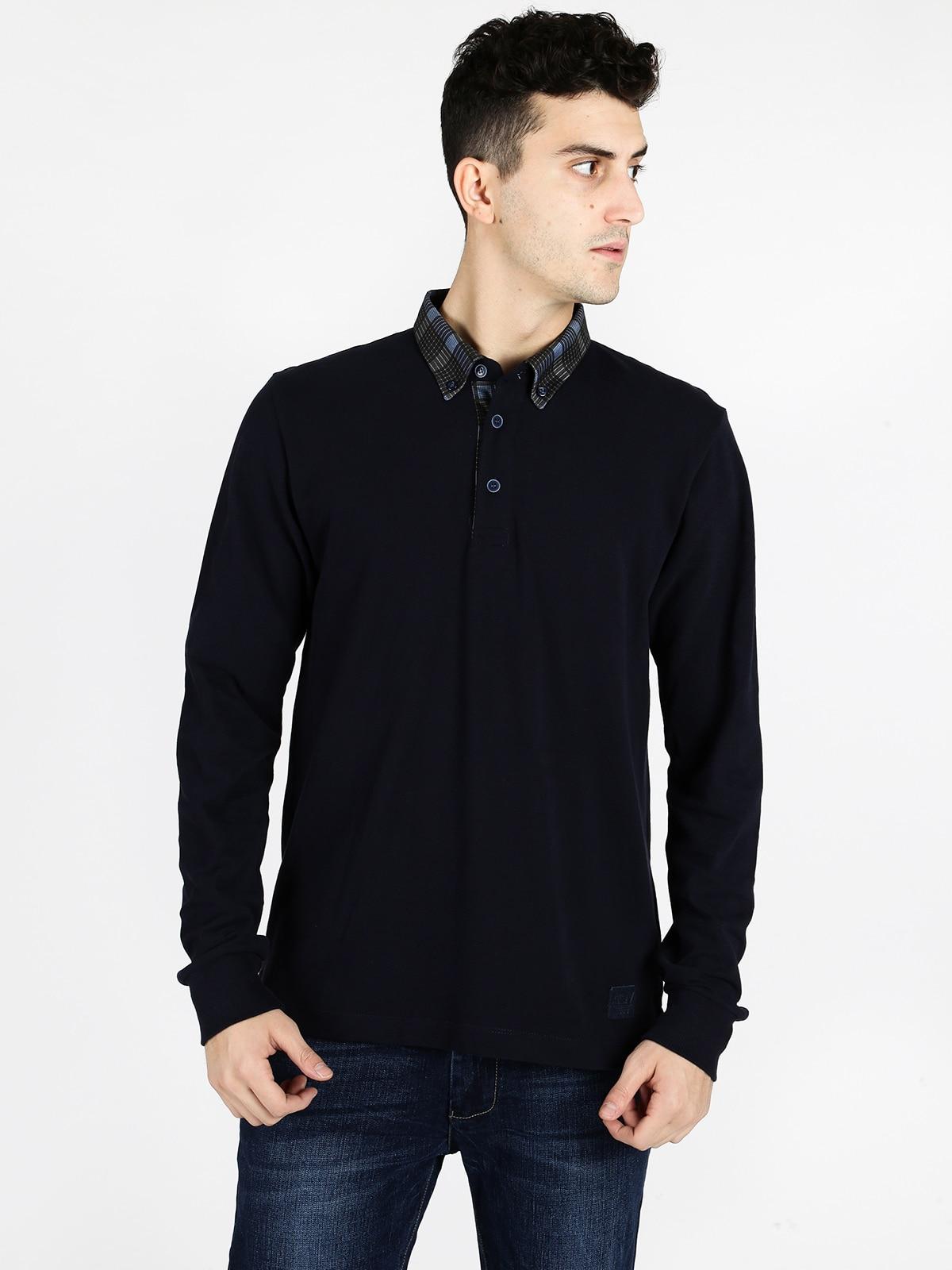 Polo à manches longues chemise