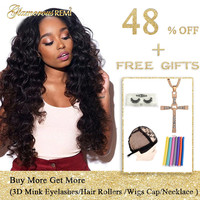 Brazilian Loose Wave Virgin Hair 1/3/4 Bundles Loose Deep Wave Brazilian Hair Unprocessed Human Hair Weave Bundles Extensions