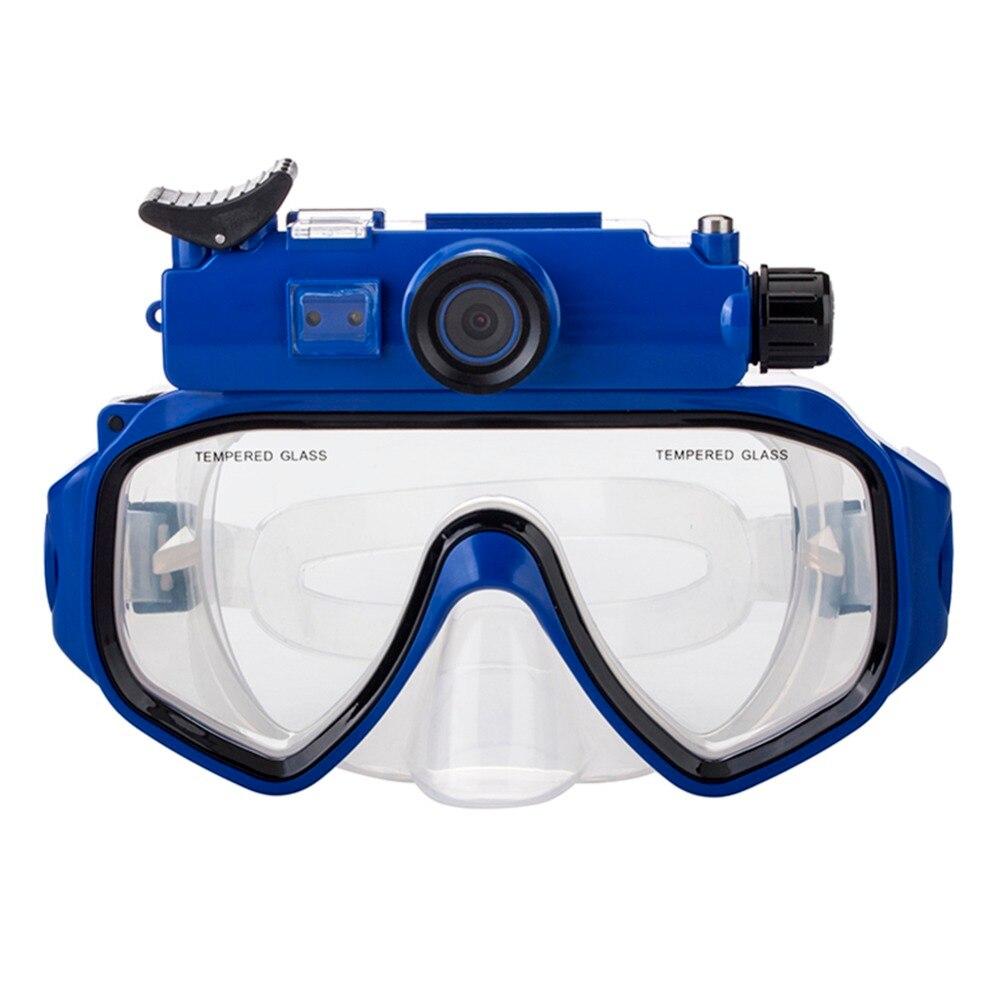 Caméra de plongée masques de plongée vue panoramique Anti-buée Anti-fuite natation tuba plongée sous-marine masque de plongée Compatible Cam - 2