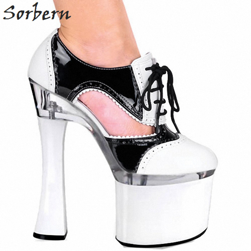 Sorbern Fashion Square Heels Black White Chunky High Heels 18Cm Platform Shoes Ladies Pumps Shoes Woman Summer 2019 Heel Diy RedSorbern Fashion Square Heels Black White Chunky High Heels 18Cm Platform Shoes Ladies Pumps Shoes Woman Summer 2019 Heel Diy Red