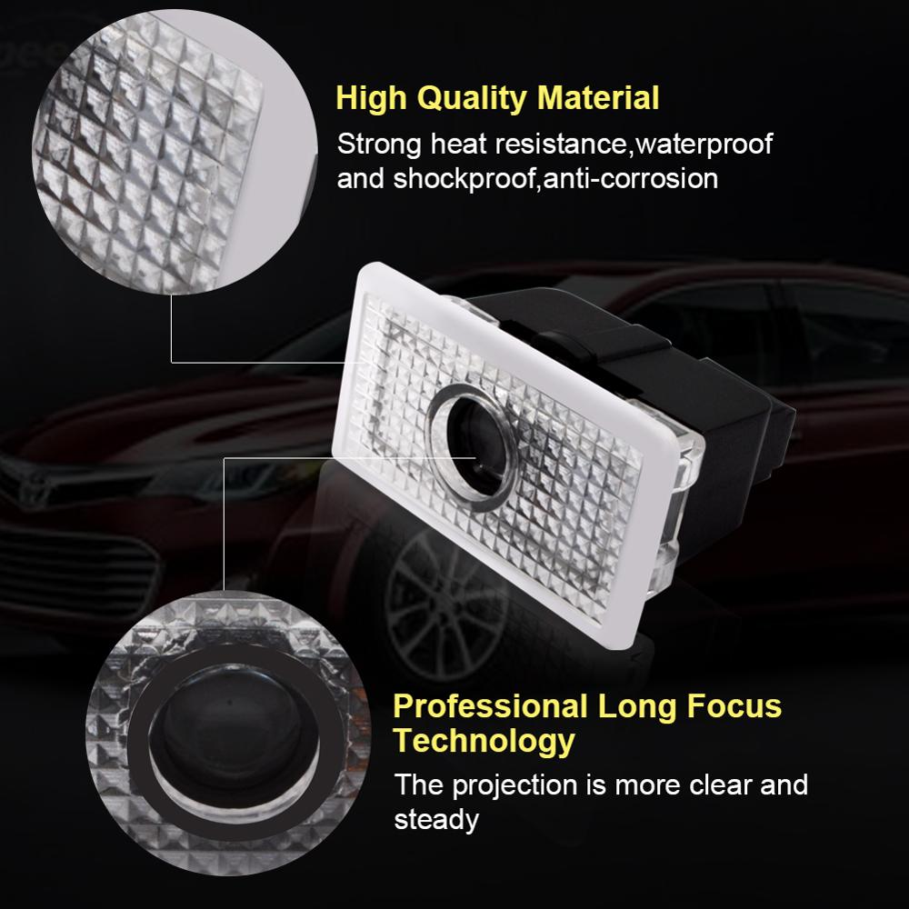 Safego 2 pcs LED Door Projector Lights Car Door Lighting Logo Ghost Shadow Step Courtesy Welcome Lights For Tesla Model S X 3 in Signal Lamp from Automobiles Motorcycles