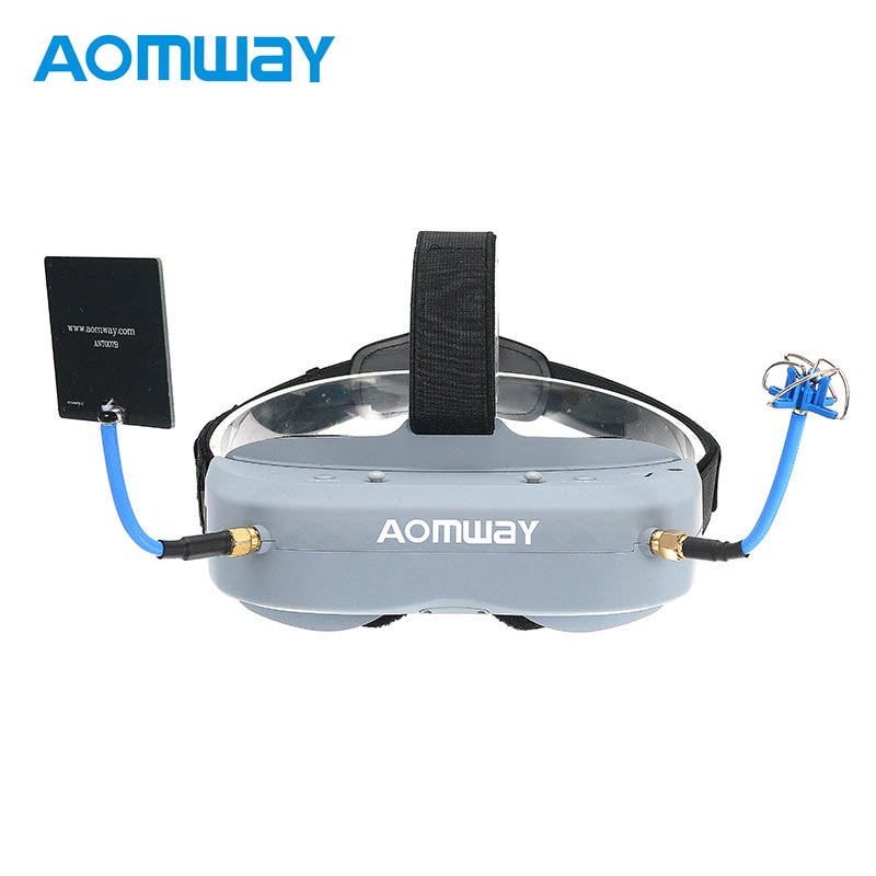 Aomway Commander Goggles V1 2D 3D 40CH 5.8G FPV Video Headset With Head Tracker Support HD Port DVR VS Fatshark Goggels