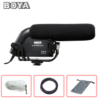 BOYA BY VM190 3.5mm MIC Jack Video Condenser Prosumer Interview Microphone On Camera Recording Mic For Canon Nikon DSLR Camera