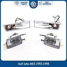 Пара ясно ПТФ в передний бампер сигнальная лампа левой и правой стороны для Volkswagen VW Golf Jetta MK3 1993-1998 96 Vento
