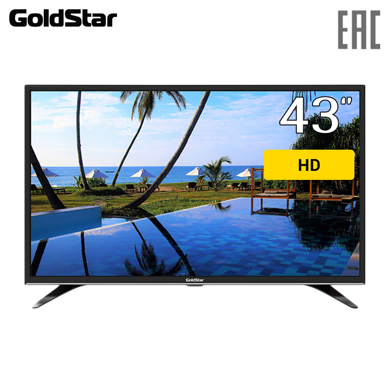 LED TV 43 GoldStar LT-43T510F FullHD 4049inchTV dvb dvb-t dvb-t2 digital dvb t digital antenna