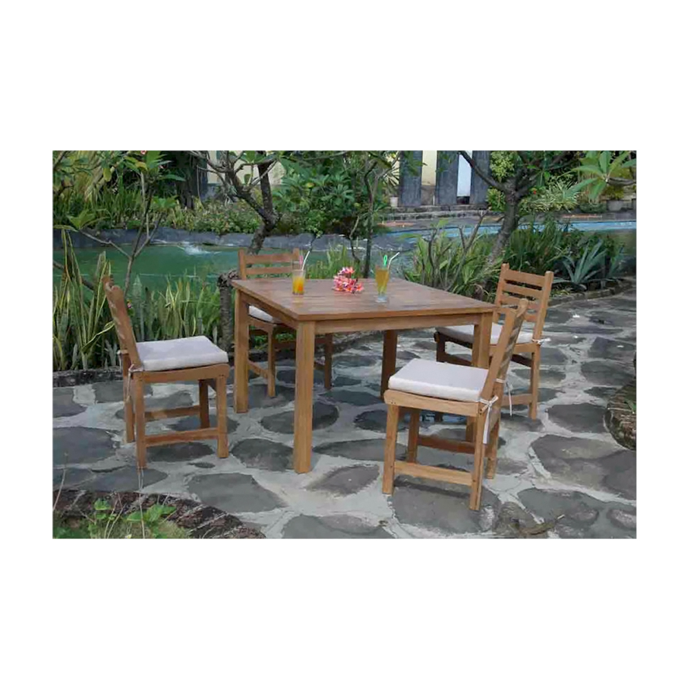 Andersonteak Outdoor Living Furniture Montage Windham Collection - Square Dinning Table set