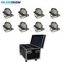No tax custom 8pcs/case, New 2019 LED Par Light Waterproof RGBW 4in1 12x12w par led RGBWA 5in1 12x15w RGBWAUV 6in1 12x18w