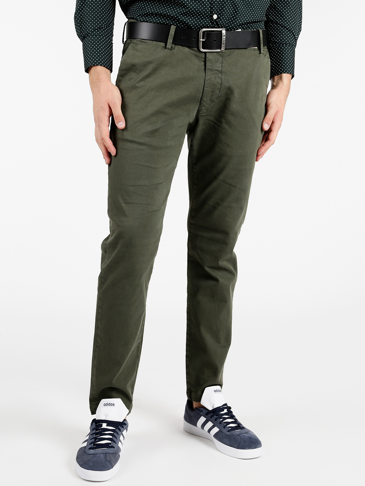 Cotton Trousers Army Green
