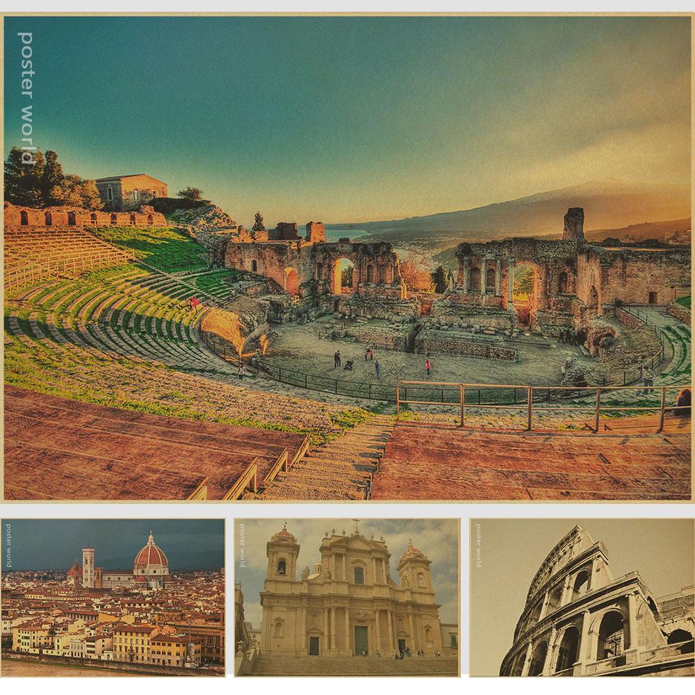 Taormina Messina Sicily Travel Italy Landscape Vintage