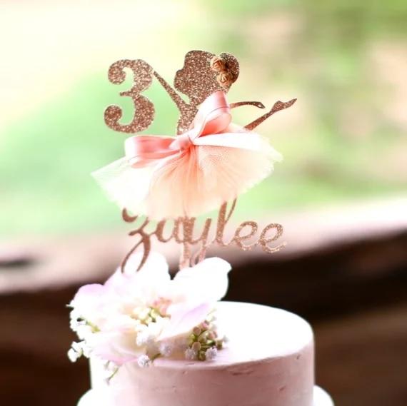 Ballerina Tutu Cake Topper Girls Birthday Decoration
