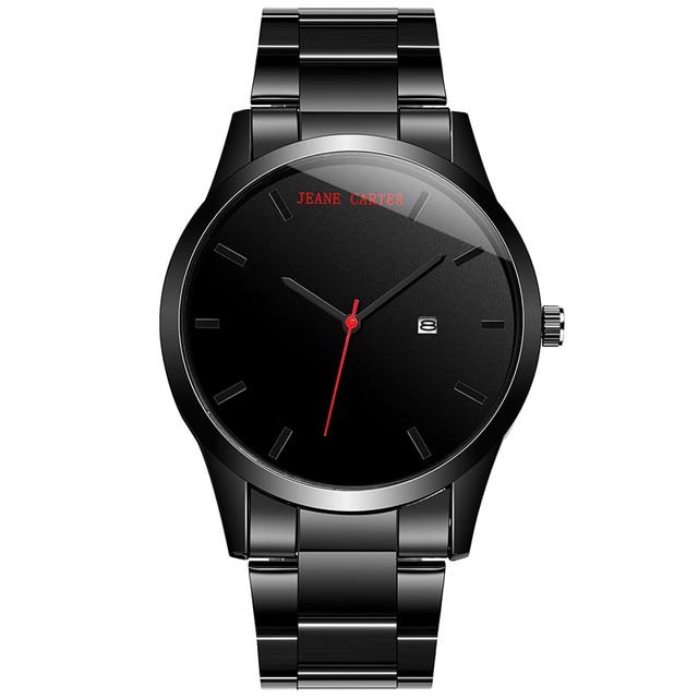 Full Black Business Wristwatches Men Watch Brand Luxury fashion Male Calendar Wa