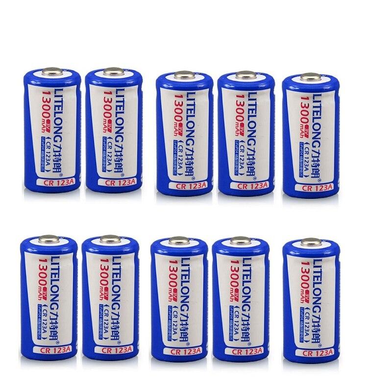 Original bateria de lítio recarregável de grande capacidade 1300 mah CR123A 3 v bateria bateria de lítio 16340 bateria
