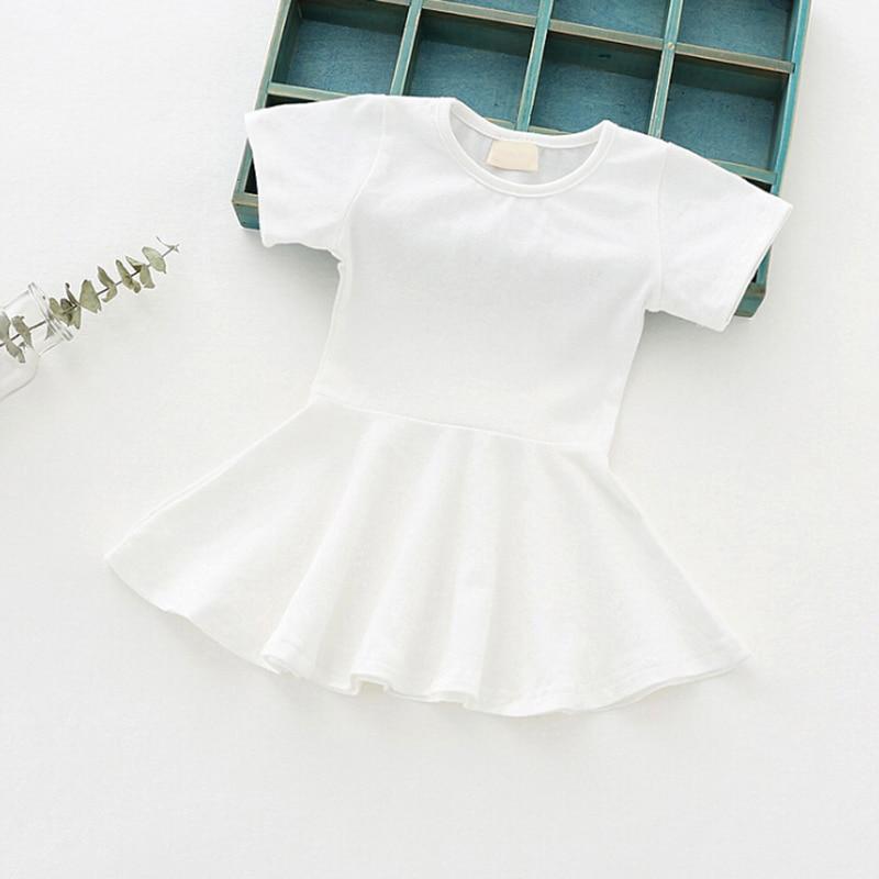 Criança Nova Moda Casual Verão Criança Bonito Do Bebê Em Torno Do Pescoço Mini Vestido
