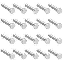 UXCELL 20Pcs M6 Bolts Thread 30/35mm 304 Stainless Steel Hex Head Screws Bolt Fasteners For Ship Assembly Home Office Appliance