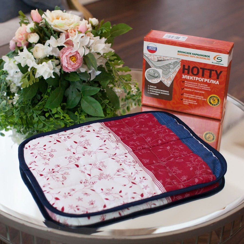 HOTTY color square Heating pad (infrared) 40 cm x 50 cm carbon fiber Gess Gessmarket