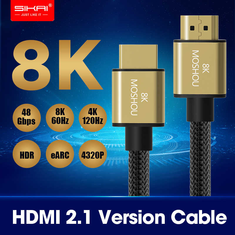 2019 Best 8K 48Gbps 2 1 HDMI Cables 4K HDMI 2 1 Cable eARC