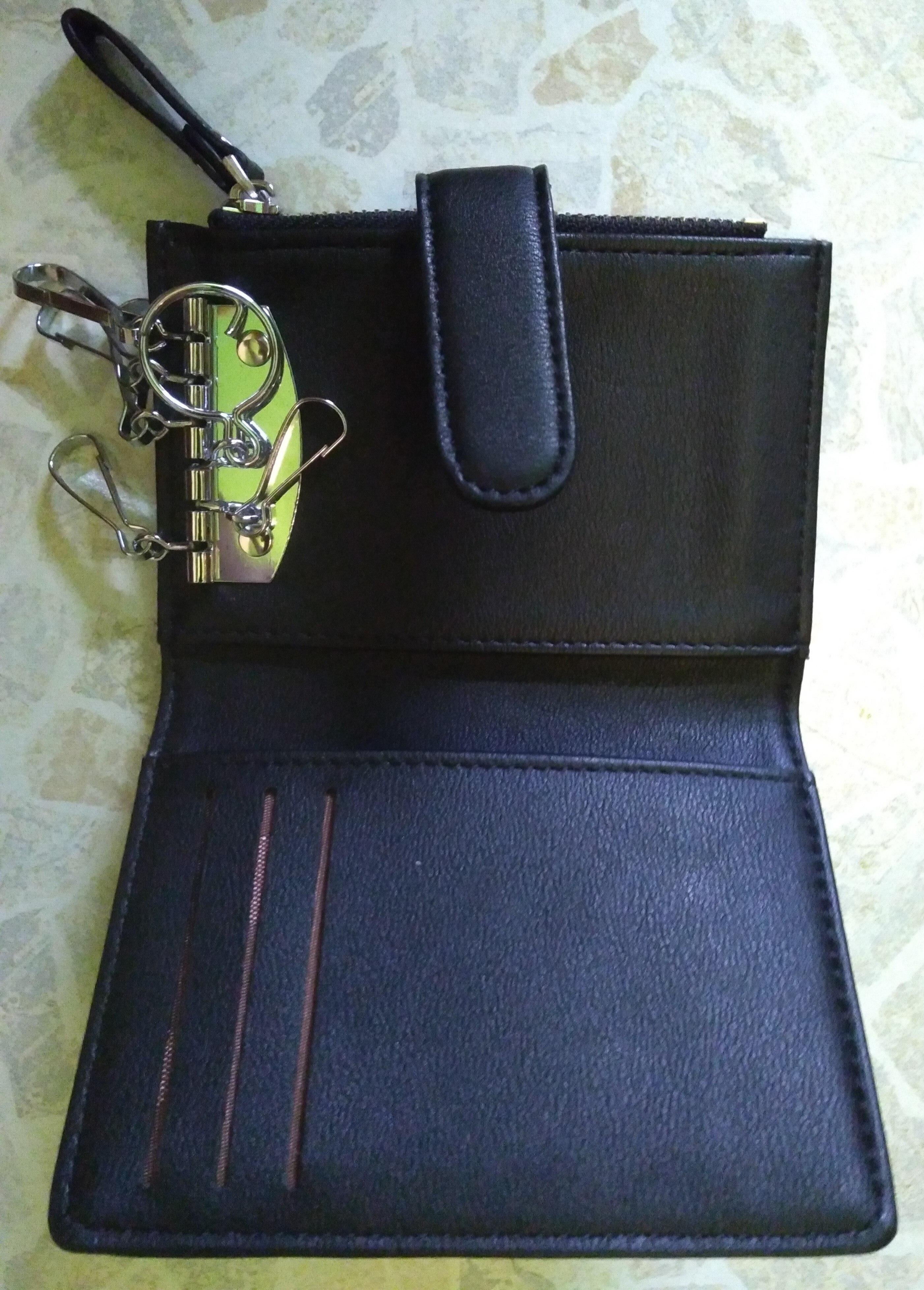 WEICHEN brand Car Key Holder for Women Key Wallets Housekeeper Keys Female Hasp Door Key Chain Organzier Key purse Coin Bag photo review