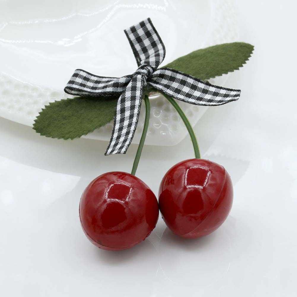 1 pcs Fashion Lovely Cherry Butterfly Hair Ornaments Women Girls Hairpin Word Hair Clip Folder Jewelry Headdress